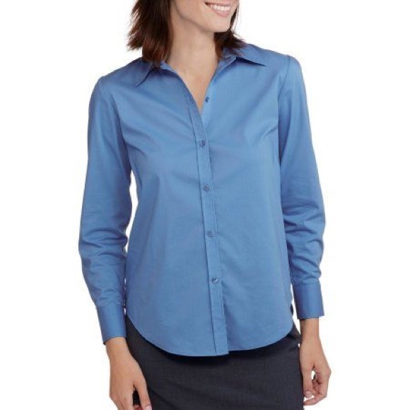 George Tops - Light Blue Business Button-Up